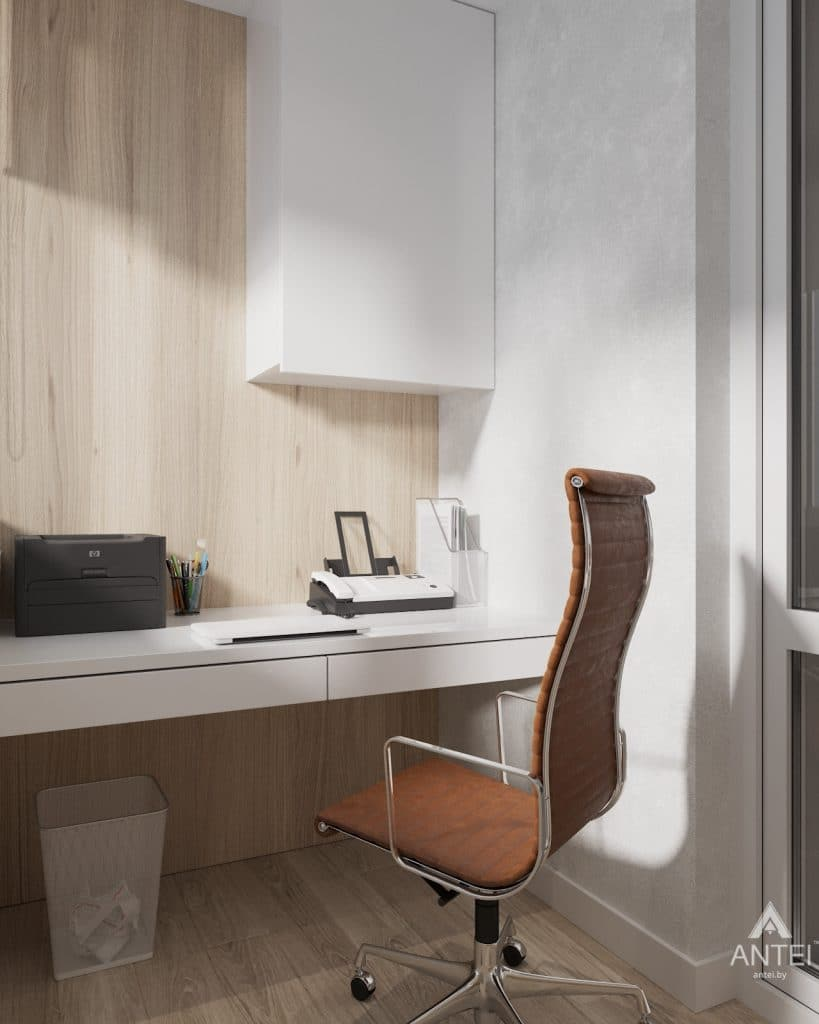 Дизайн интерьера трехкомнатная квартира в Минске, ул. Нововиленская - лоджия фото №3