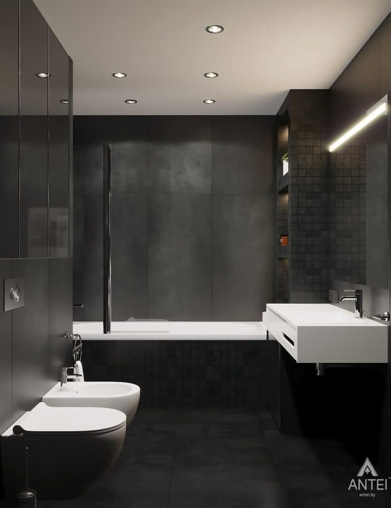 Дизайн интерьера двухкомнатной квартиры в Гомеле, ул. Советская - санузел фото №2