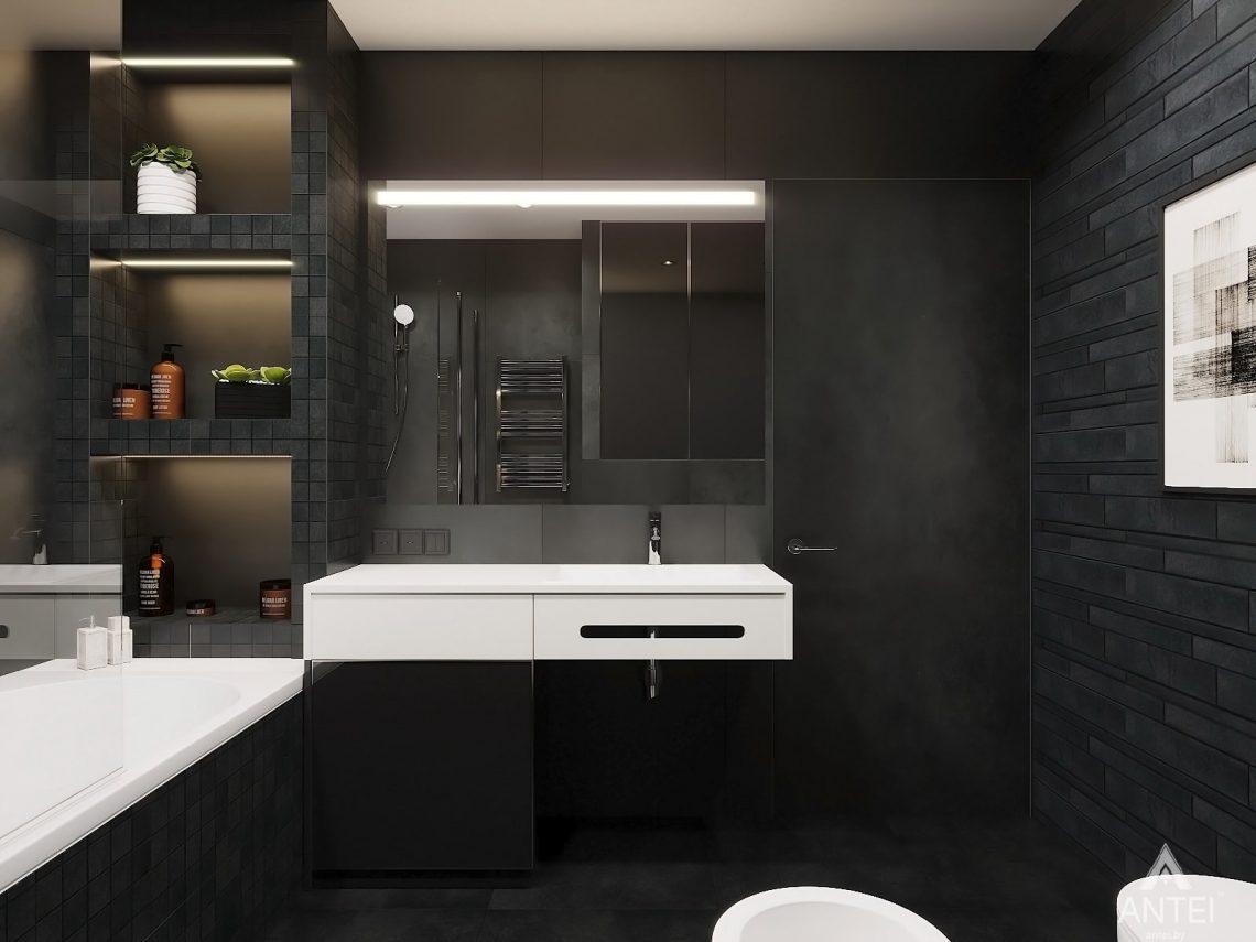 Дизайн интерьера двухкомнатной квартиры в Гомеле, ул. Советская - санузел фото №4