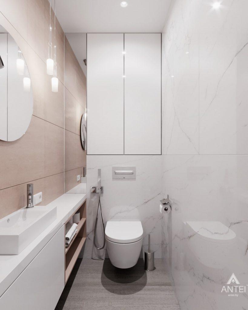 Дизайн интерьера трехкомнатная квартира в Минске, ул. Нововиленская - санузел фото №1