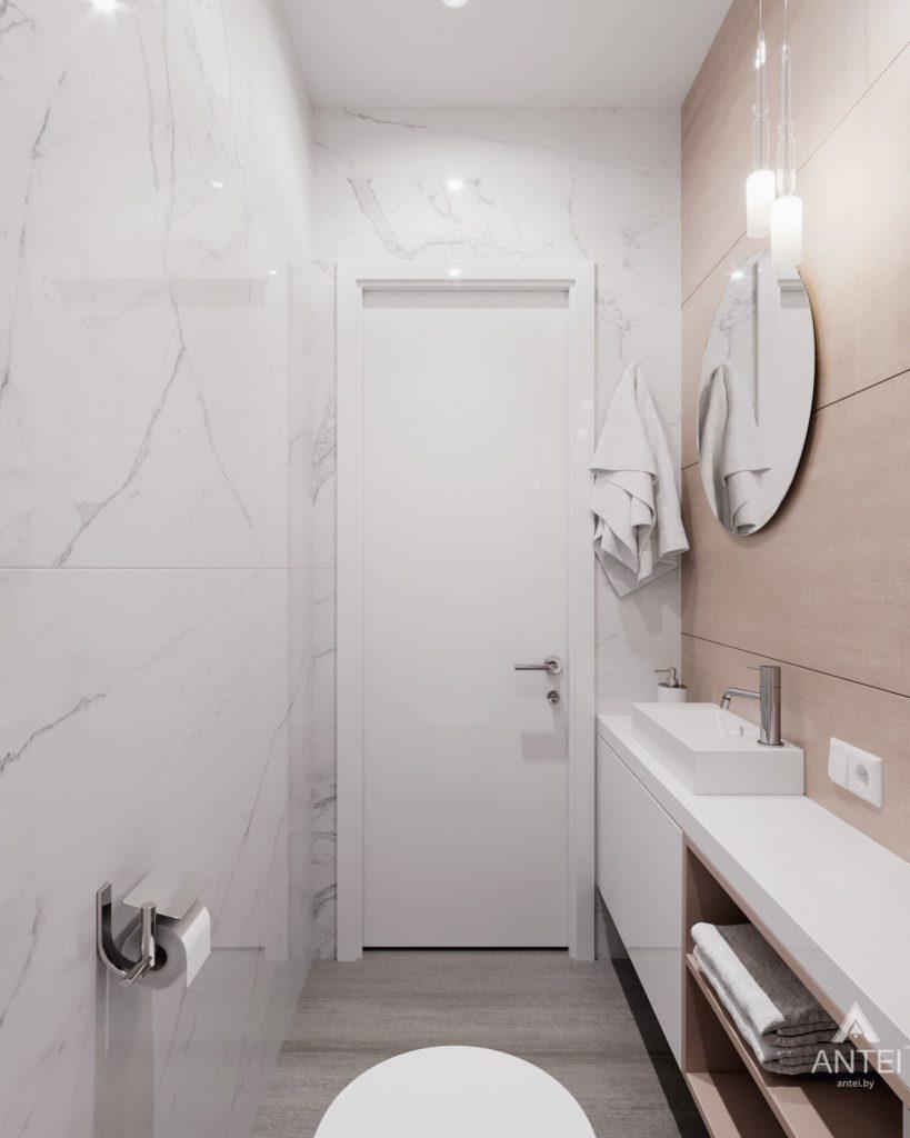 Дизайн интерьера трехкомнатная квартира в Минске, ул. Нововиленская - санузел фото №2