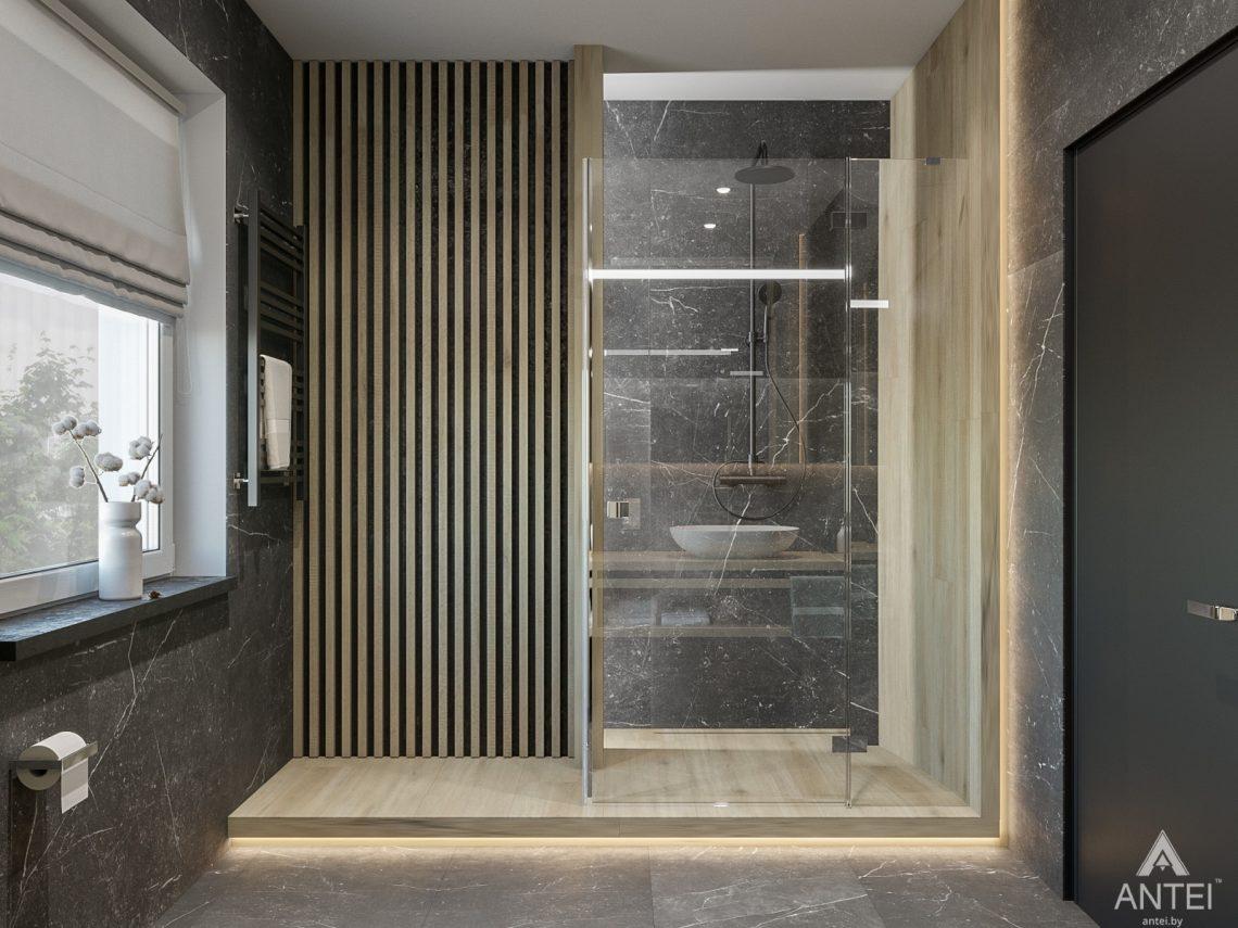 Дизайн интерьера таунхауса в Варшаве - санузел фото №5
