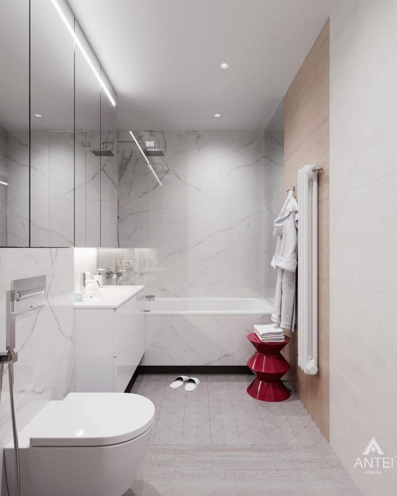 Дизайн интерьера трехкомнатная квартира в Минске, ул. Нововиленская - ванная фото №2