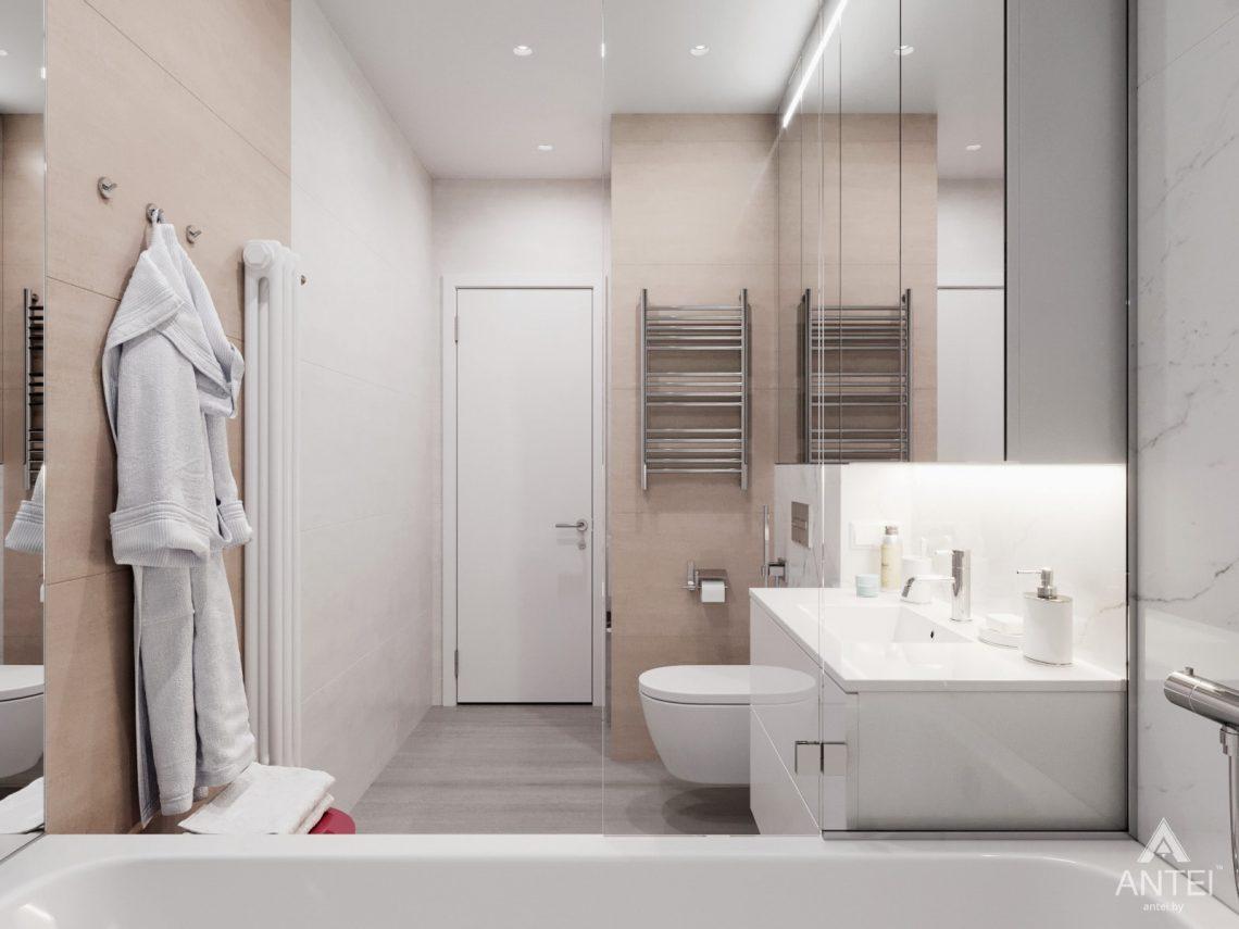 Дизайн интерьера трехкомнатная квартира в Минске, ул. Нововиленская - ванная фото №3