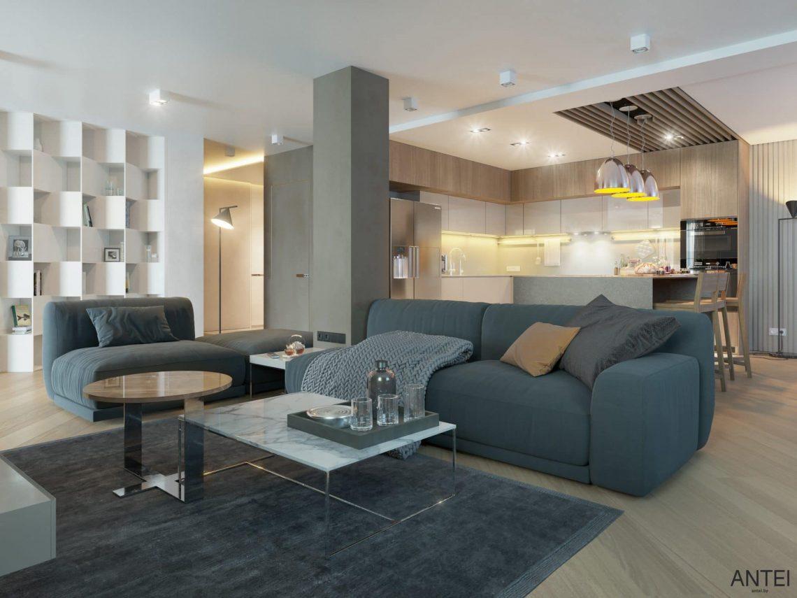 Дизайн интерьера трехкомнатной квартиры в Гомеле, ул. Советская - гостиная фото №1