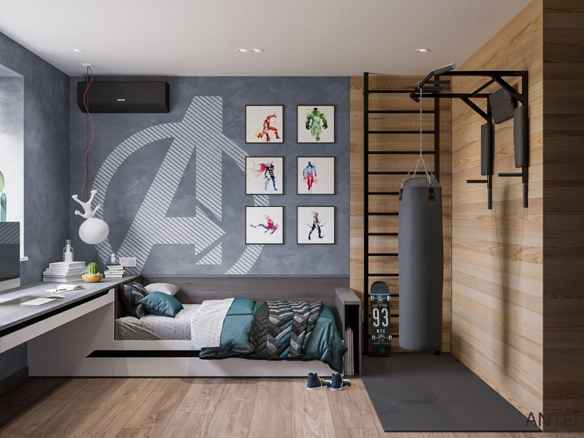 Дизайн интерьера трехкомнатная квартира в Гомеле, ул. Парижской Коммуны - детская комната фото №1