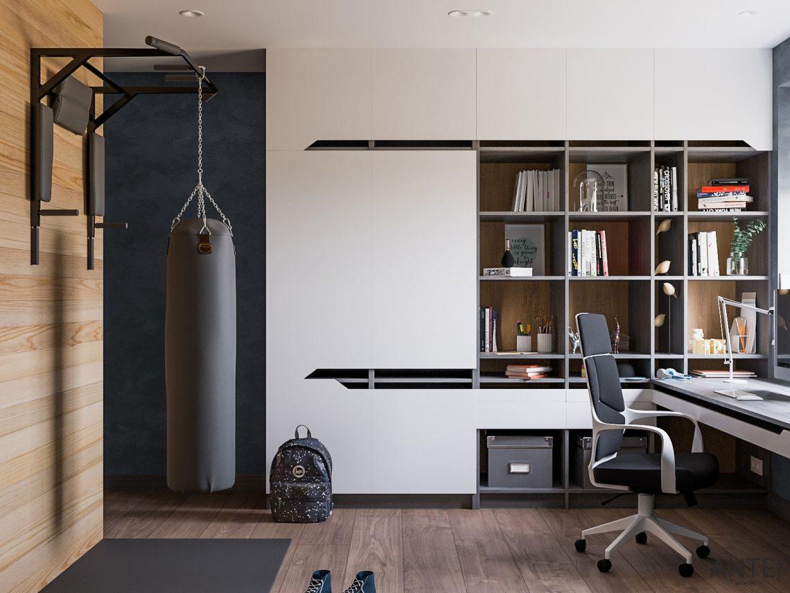 Дизайн интерьера трехкомнатная квартира в Гомеле, ул. Парижской Коммуны - детская комната фото №4