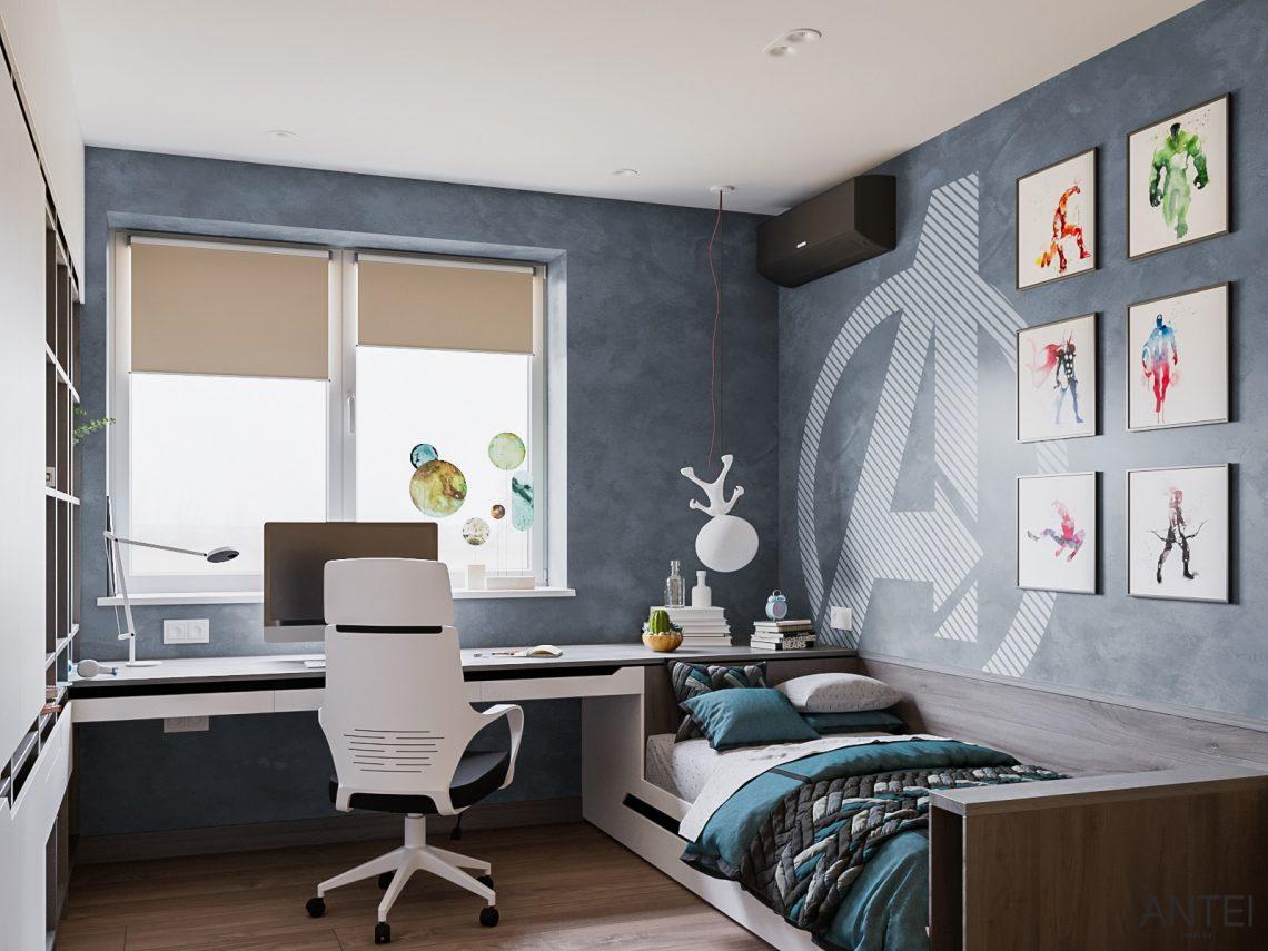 Дизайн интерьера трехкомнатная квартира в Гомеле, ул. Парижской Коммуны - детская комната фото №2