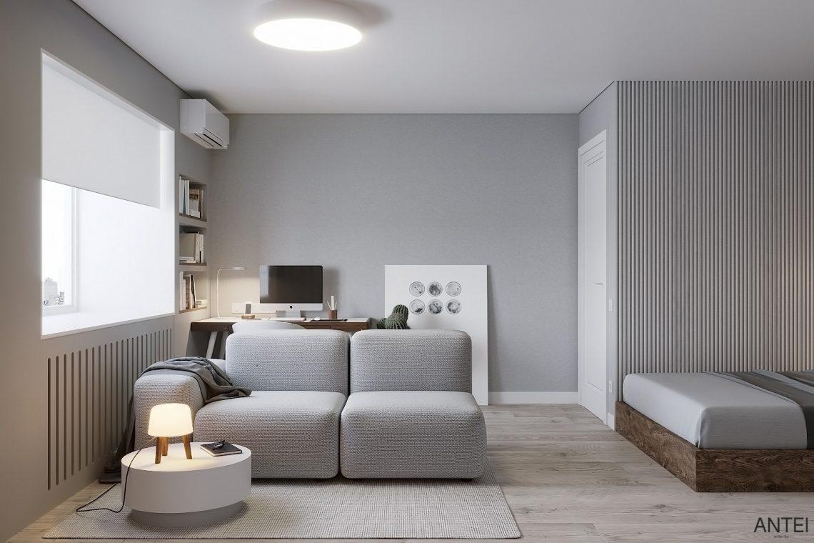 Дизайн интерьера однокомнатной квартиры в Гомеле, ул. Песина - гостиная фото №1