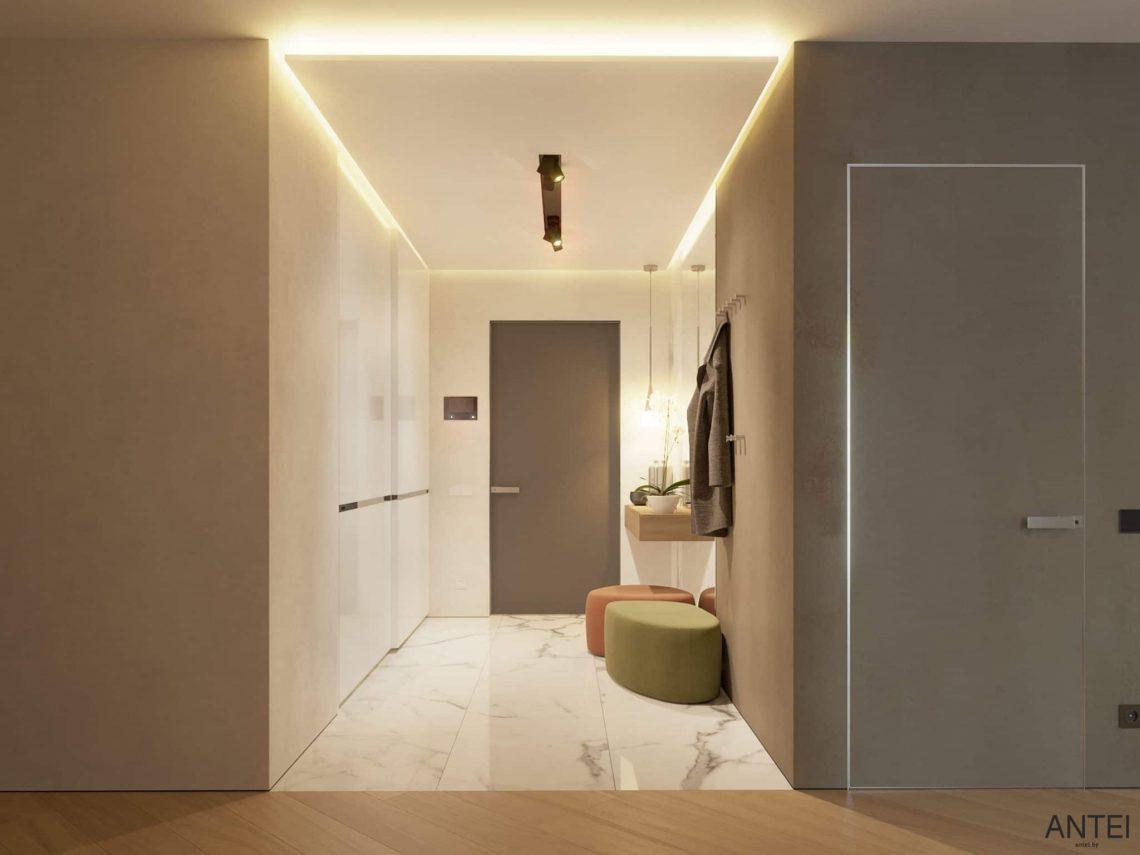 Дизайн интерьера трехкомнатной квартиры в Гомеле, ул. Советская - прихожая фото №3