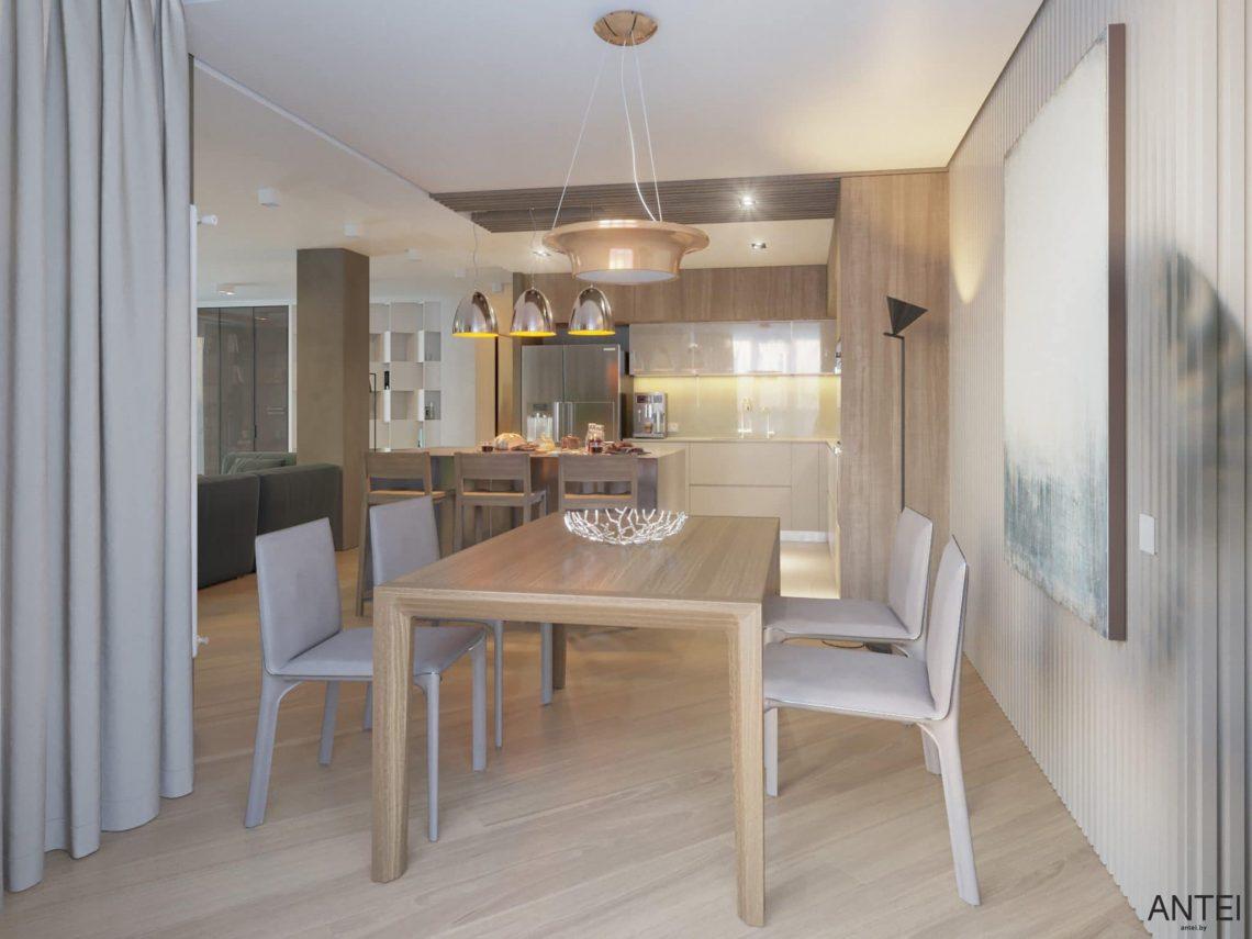 Дизайн интерьера трехкомнатной квартиры в Гомеле, ул. Советская - кухня фото №5