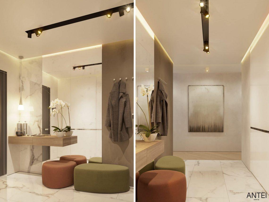 Дизайн интерьера трехкомнатной квартиры в Гомеле, ул. Советская - прихожая фото №4