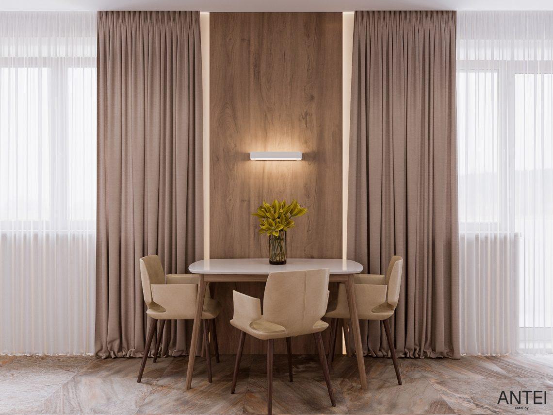 Дизайн интерьера трехкомнатная квартира в Гомеле, ул. Парижской Коммуны - гостиная фото №6