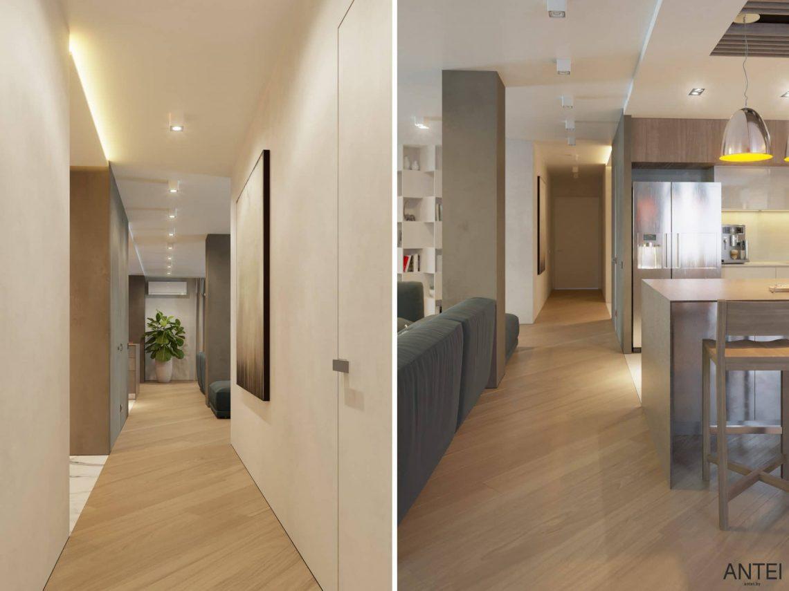 Дизайн интерьера трехкомнатной квартиры в Гомеле, ул. Советская - прихожая фото №1