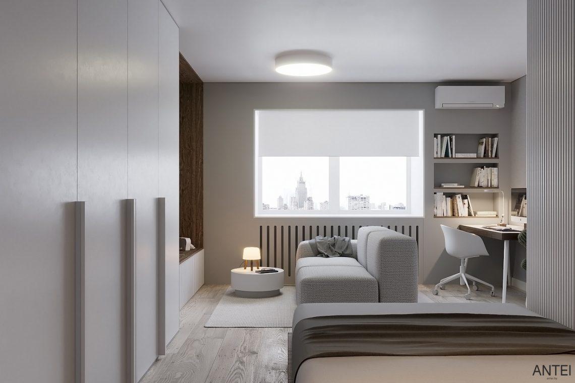 Дизайн интерьера однокомнатной квартиры в Гомеле, ул. Песина - гостиная фото №2