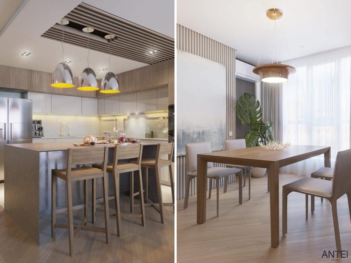 Дизайн интерьера трехкомнатной квартиры в Гомеле, ул. Советская - кухня фото №6
