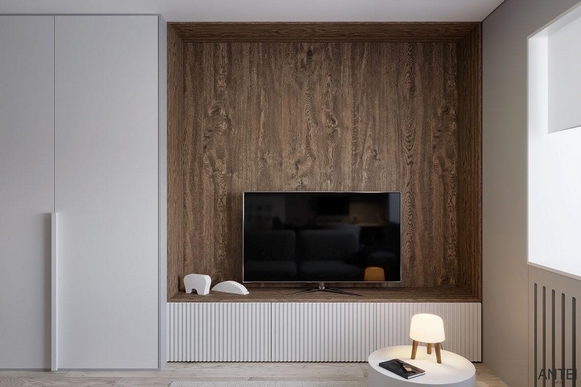 Дизайн интерьера однокомнатной квартиры в Гомеле, ул. Песина - гостиная фото №3