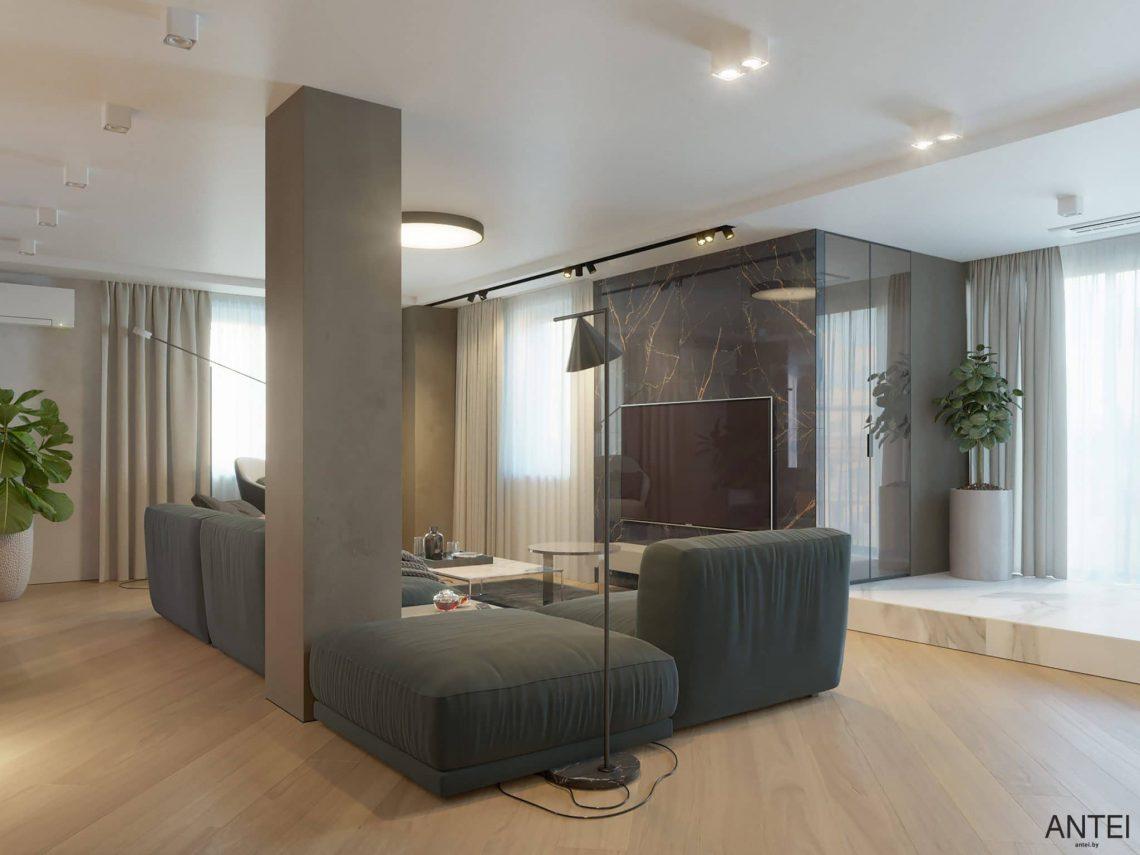 Дизайн интерьера трехкомнатной квартиры в Гомеле, ул. Советская - гостиная фото №3