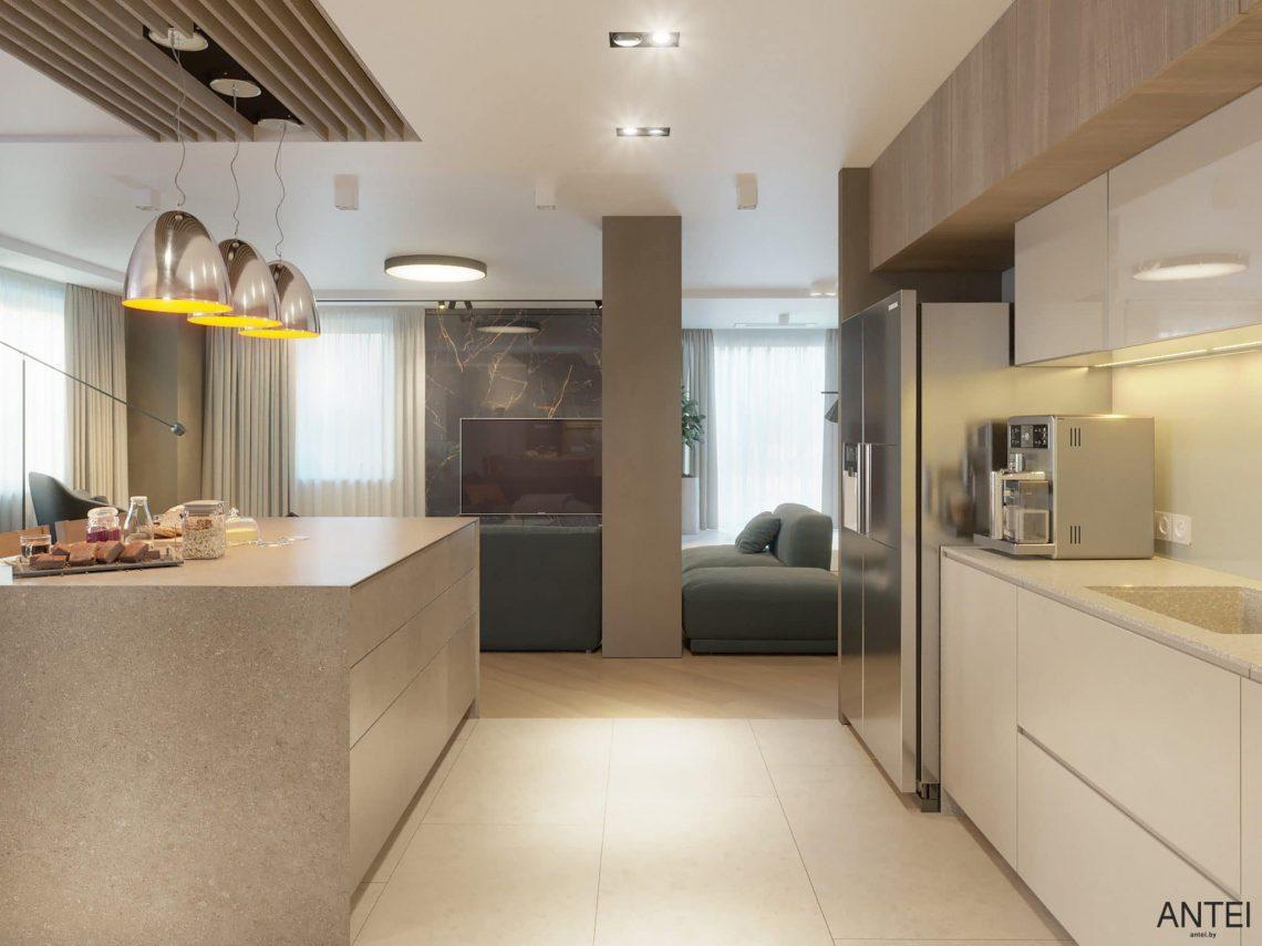 Дизайн интерьера трехкомнатной квартиры в Гомеле, ул. Советская - кухня фото №1