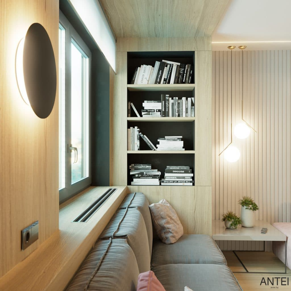 Дизайн интерьера трехкомнатная квартира в Минске, пр. Дзержинского - гостиная фото №5