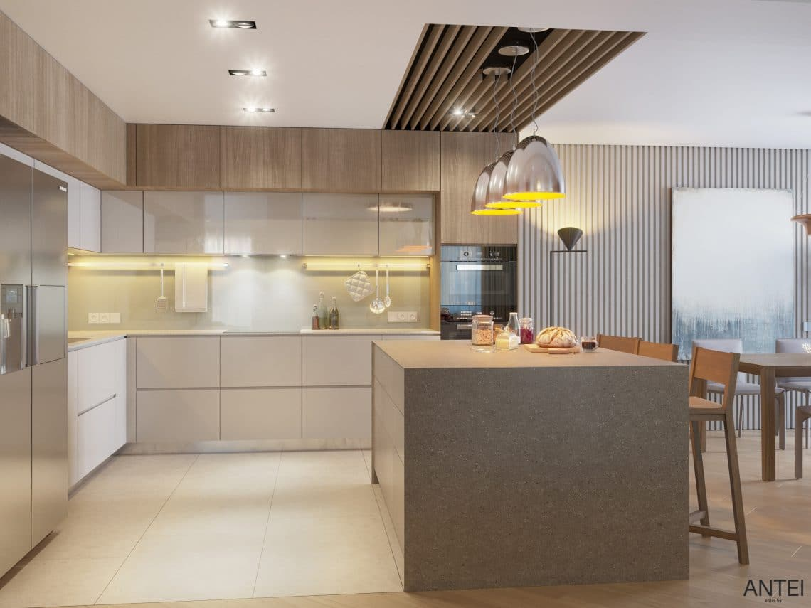 Дизайн интерьера трехкомнатной квартиры в Гомеле, ул. Советская - кухня фото №2
