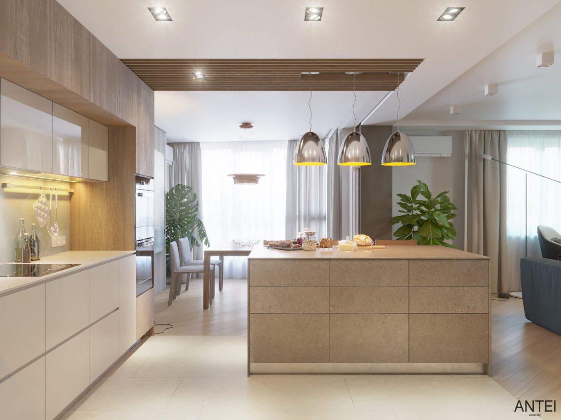 Дизайн интерьера трехкомнатной квартиры в Гомеле, ул. Советская - кухня фото №3