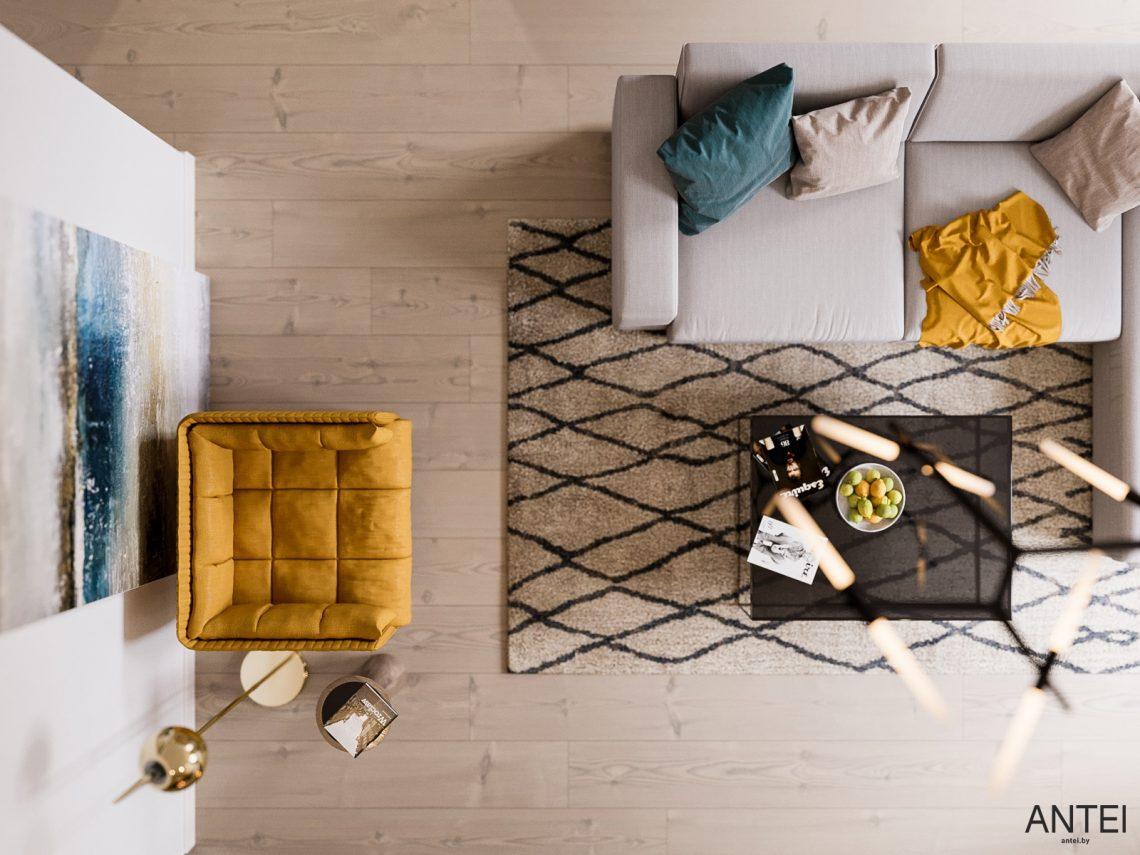 Дизайн интерьера трехкомнатная квартира в Гомеле, ул. Парижской Коммуны - гостиная фото №5