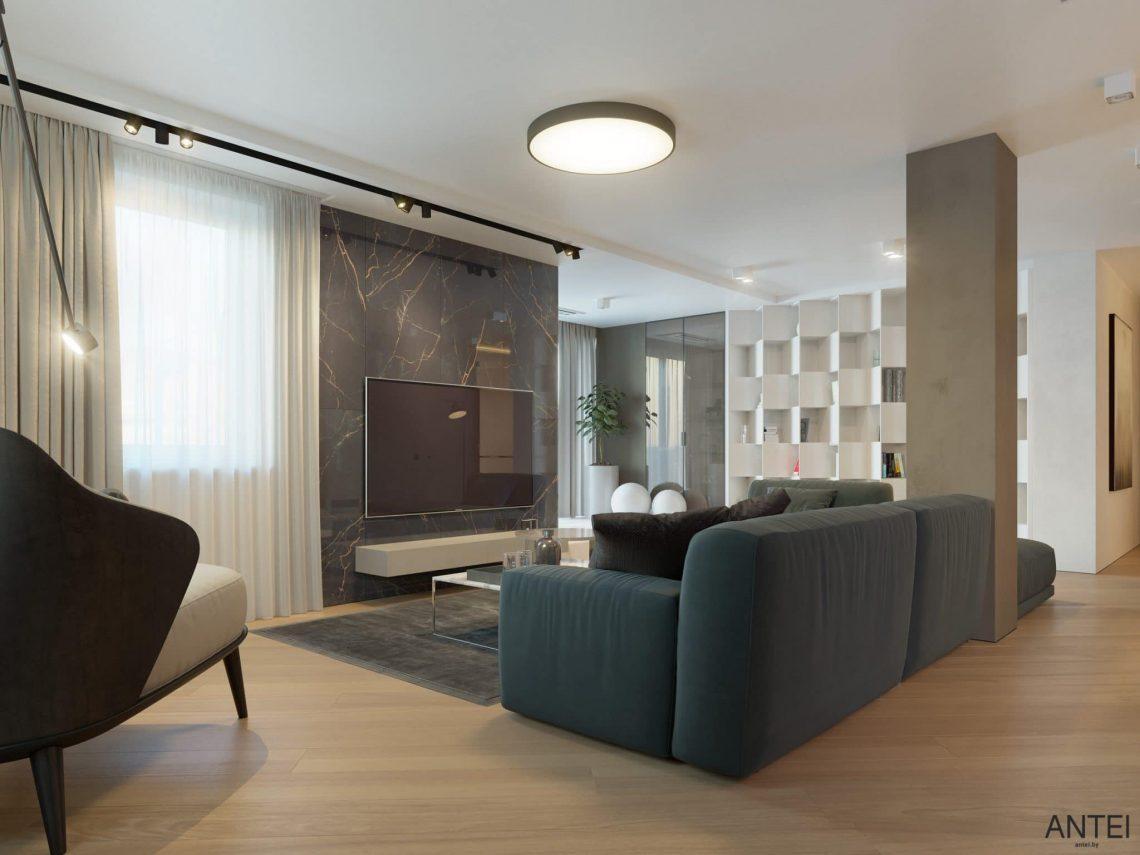 Дизайн интерьера трехкомнатной квартиры в Гомеле, ул. Советская - гостиная фото №4