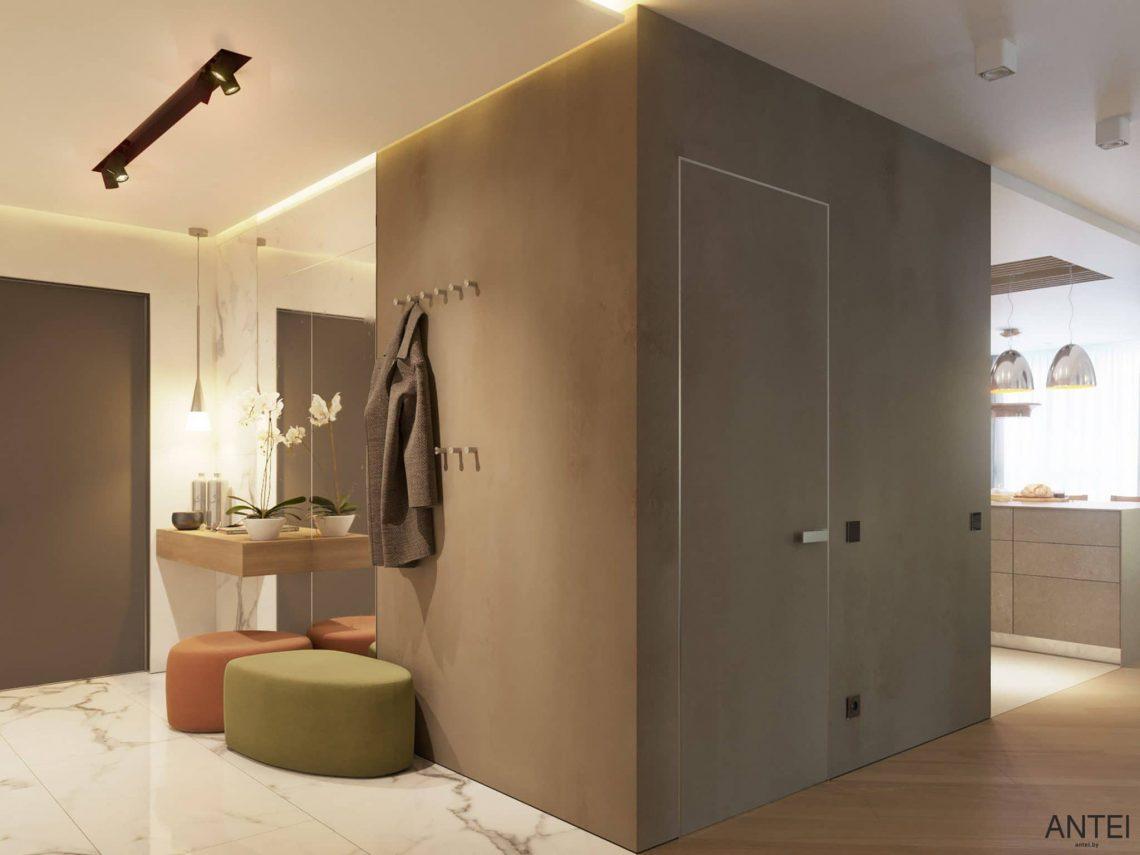 Дизайн интерьера трехкомнатной квартиры в Гомеле, ул. Советская - прихожая фото №2