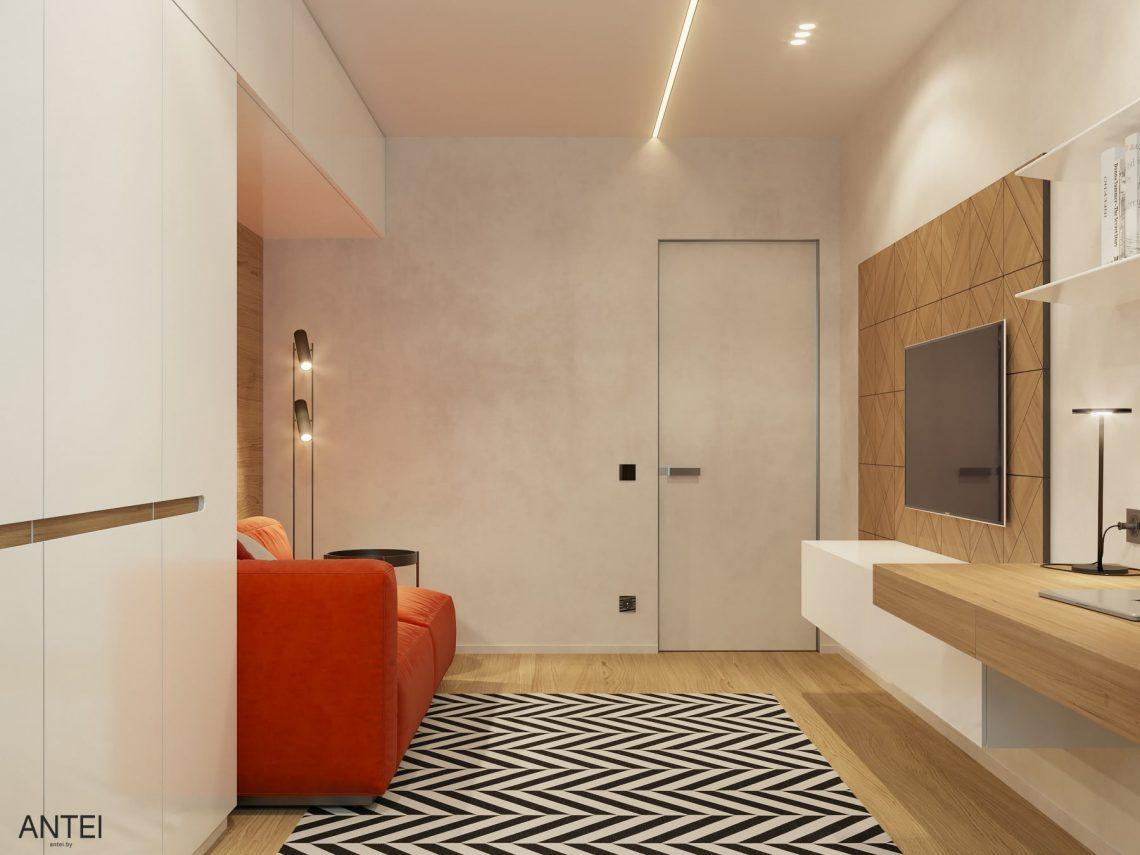 Дизайн интерьера трехкомнатная квартира в Минске, пр. Дзержинского - кабинет фото №3