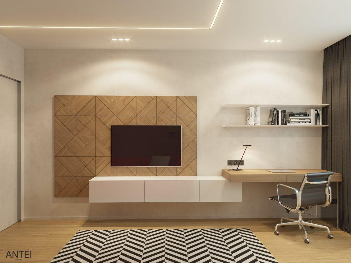 Дизайн интерьера трехкомнатная квартира в Минске, пр. Дзержинского - кабинет фото №2