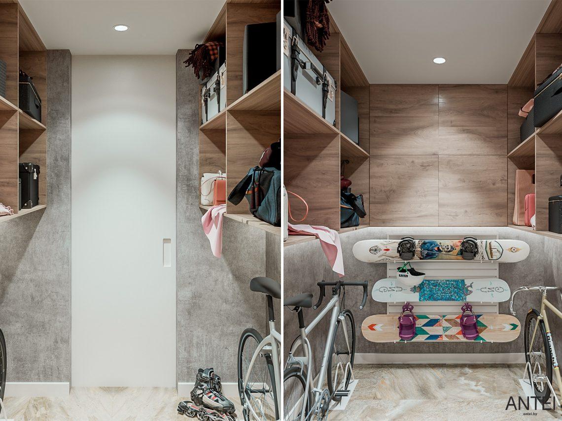Дизайн интерьера трехкомнатная квартира в Гомеле, ул. Парижской Коммуны - кладовая фото №1