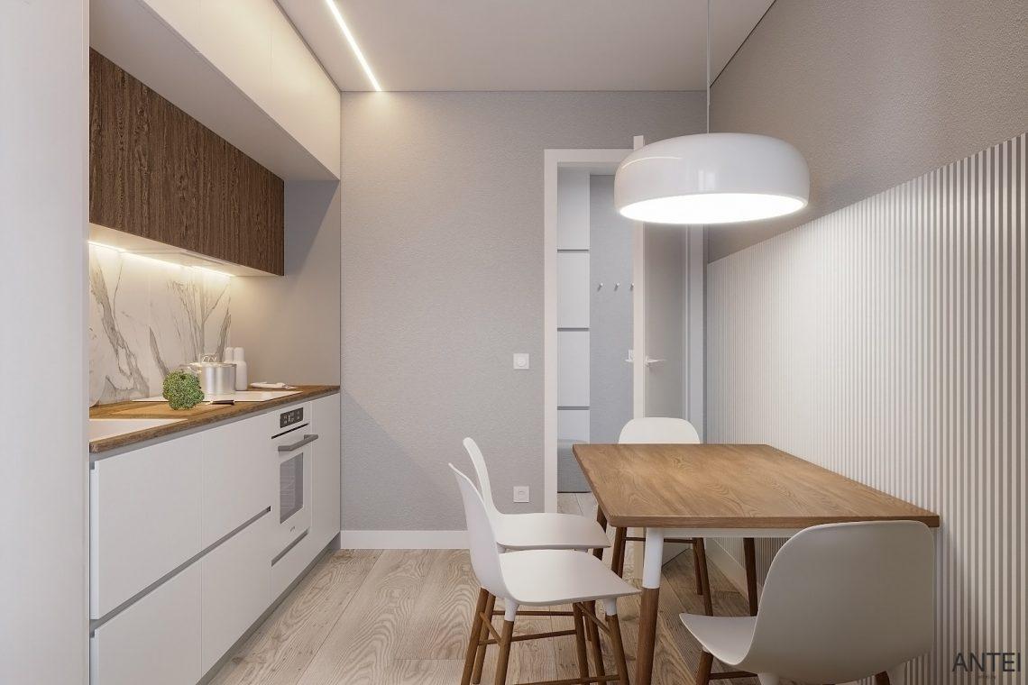 Дизайн интерьера однокомнатной квартиры в Гомеле, ул. Песина - кухня фото №3