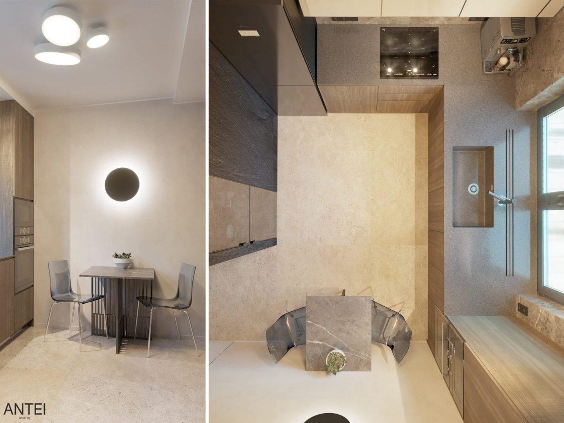 Дизайн интерьера трехкомнатная квартира в Минске, пр. Дзержинского - кухня фото №2