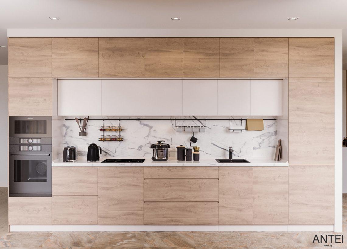 Дизайн интерьера трехкомнатная квартира в Гомеле, ул. Парижской Коммуны - кухня фото №1