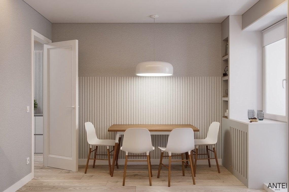 Дизайн интерьера однокомнатной квартиры в Гомеле, ул. Песина - кухня фото №2