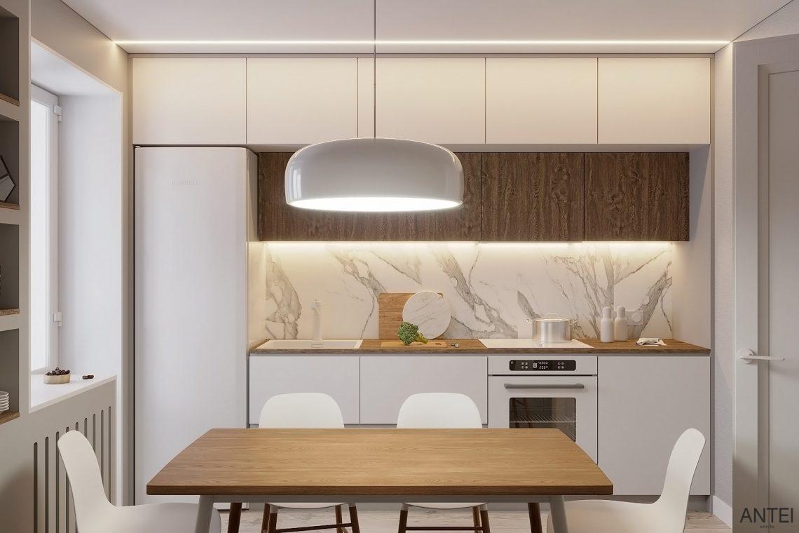 Дизайн интерьера однокомнатной квартиры в Гомеле, ул. Песина - кухня фото №1