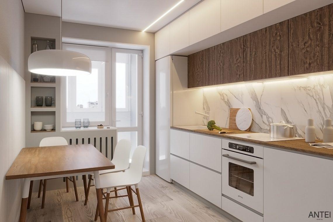 Дизайн интерьера однокомнатной квартиры в Гомеле, ул. Песина - кухня фото №4