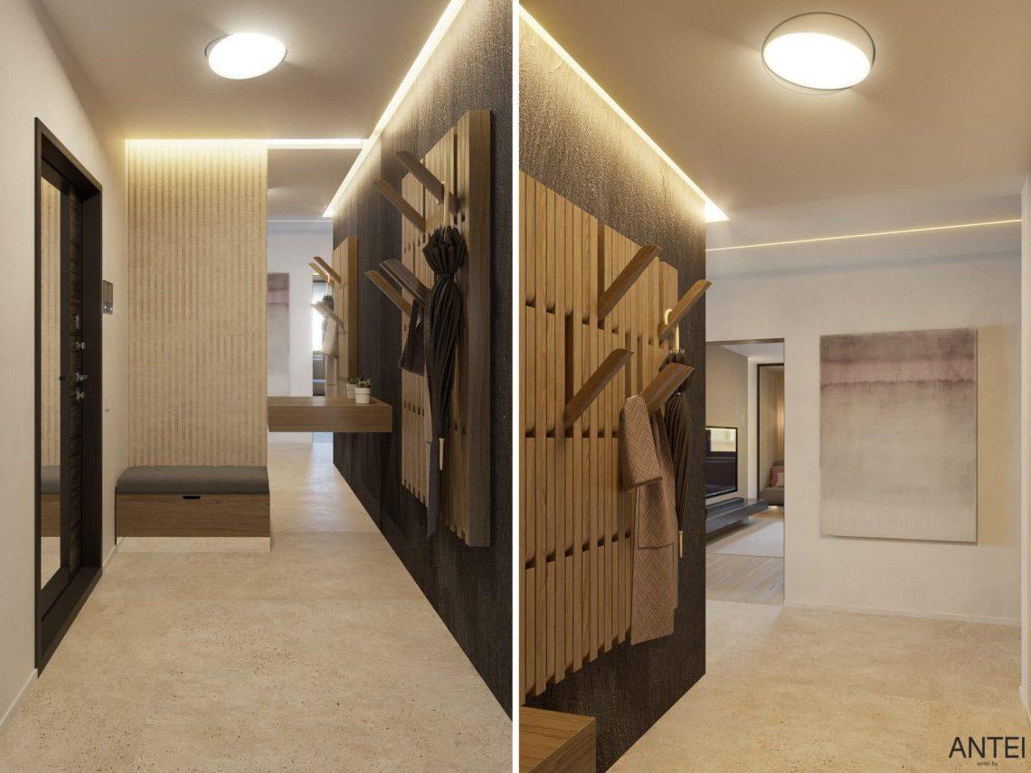 Дизайн интерьера трехкомнатная квартира в Минске, пр. Дзержинского - прихожая фото №2