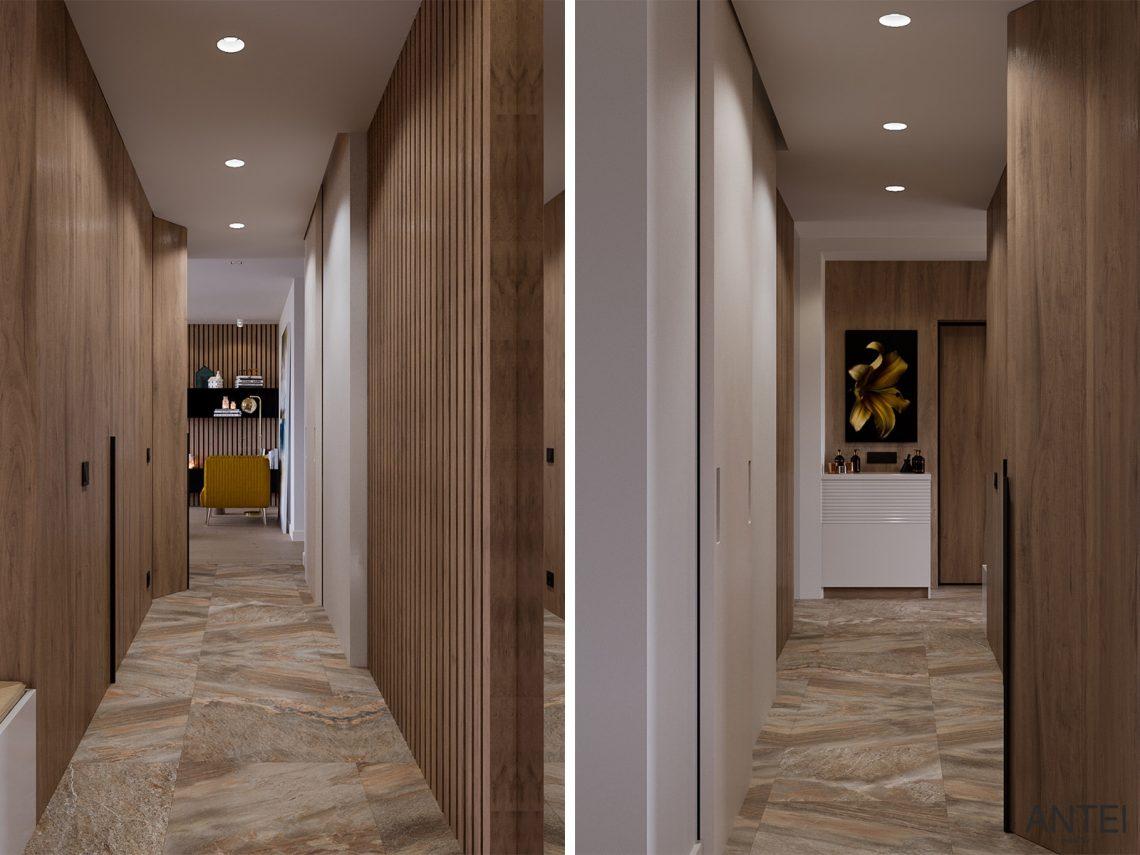Дизайн интерьера трехкомнатная квартира в Гомеле, ул. Парижской Коммуны - прихожая фото №1