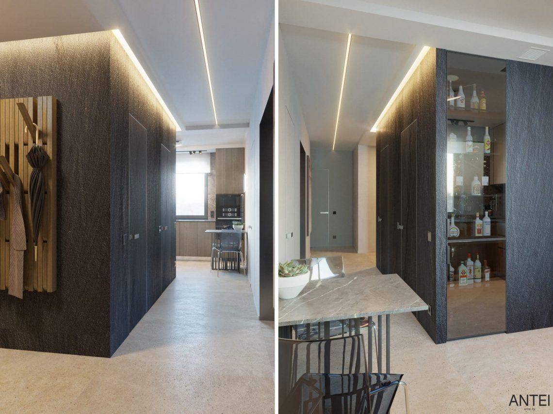Дизайн интерьера трехкомнатная квартира в Минске, пр. Дзержинского - прихожая фото №1