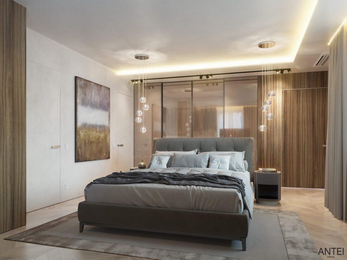 Дизайн интерьера трехкомнатной квартиры в Гомеле, ул. Советская - спальня фото №1