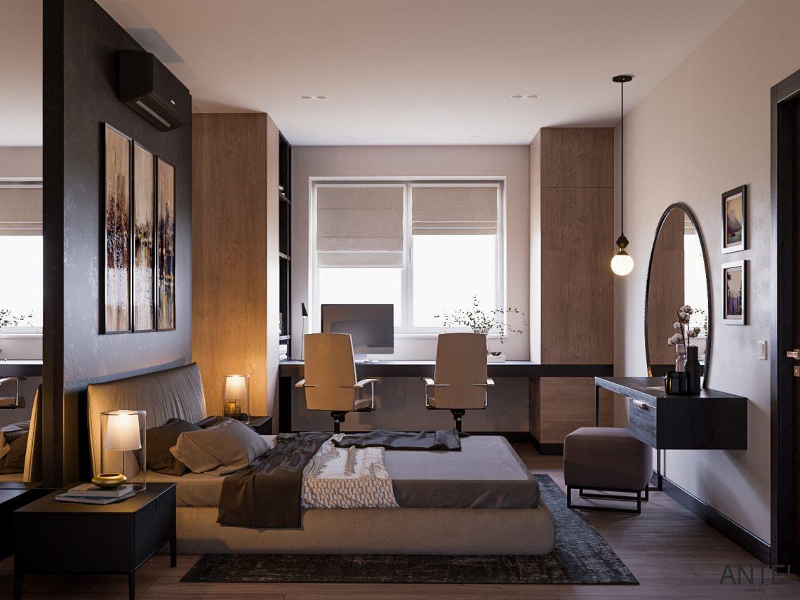Дизайн интерьера трехкомнатная квартира в Гомеле, ул. Парижской Коммуны - спальня фото №3