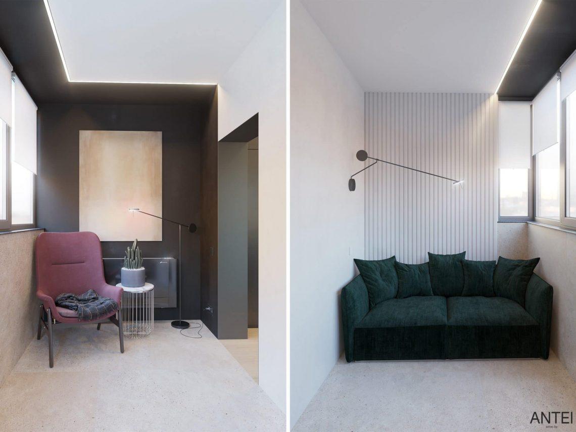 Дизайн интерьера трехкомнатная квартира в Минске, пр. Дзержинского - спальня фото №6