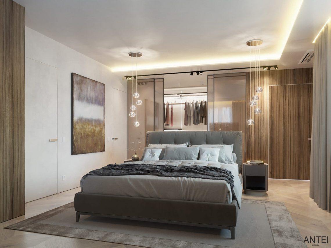 Дизайн интерьера трехкомнатной квартиры в Гомеле, ул. Советская - спальня фото №2