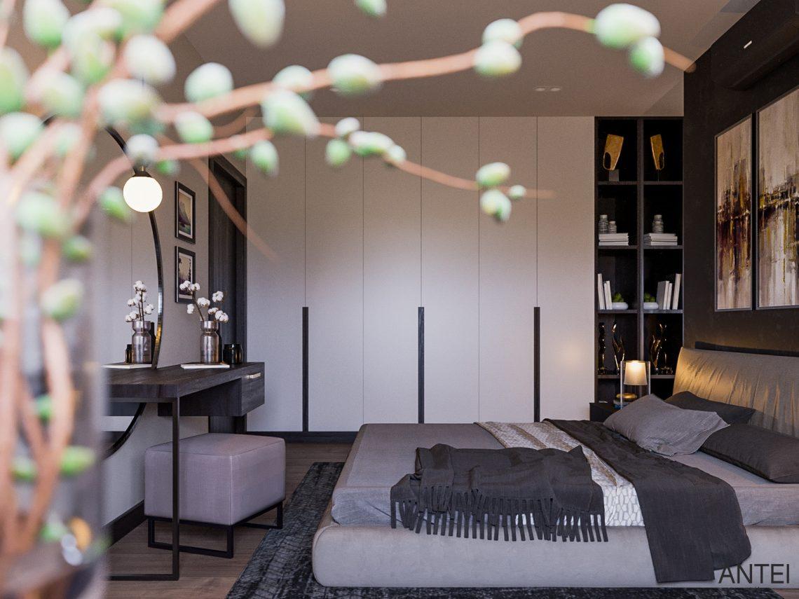 Дизайн интерьера трехкомнатная квартира в Гомеле, ул. Парижской Коммуны - спальня фото №4