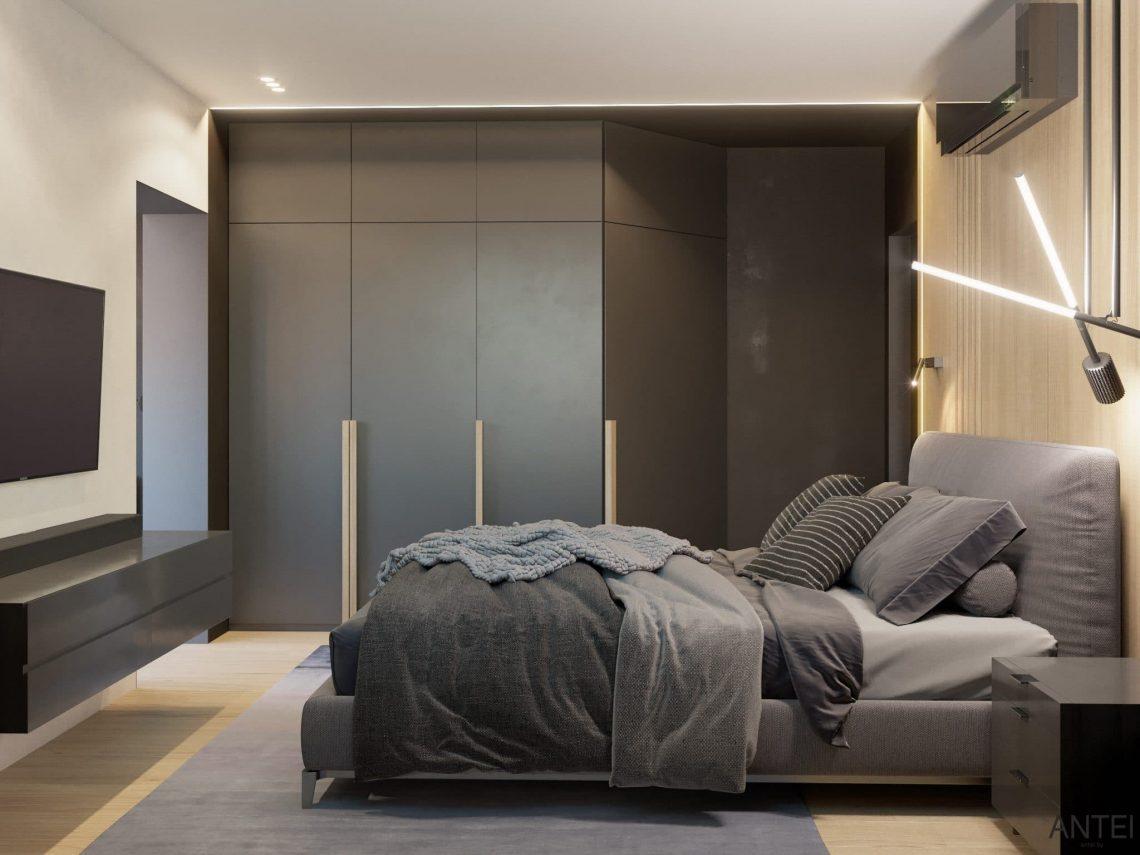 Дизайн интерьера трехкомнатная квартира в Минске, пр. Дзержинского - спальня фото №2