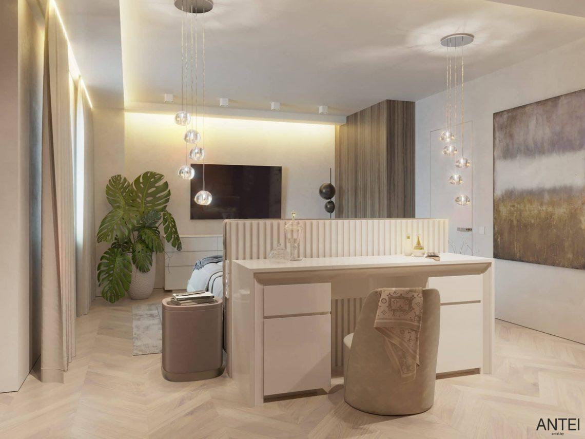 Дизайн интерьера трехкомнатной квартиры в Гомеле, ул. Советская - спальня фото №5