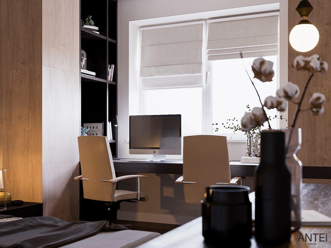 Дизайн интерьера трехкомнатная квартира в Гомеле, ул. Парижской Коммуны - спальня фото №5