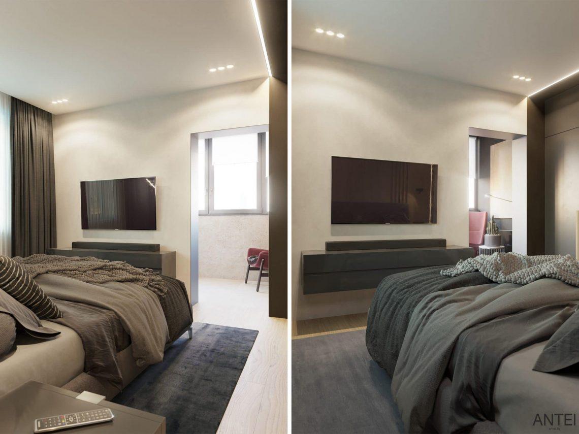 Дизайн интерьера трехкомнатная квартира в Минске, пр. Дзержинского - спальня фото №5